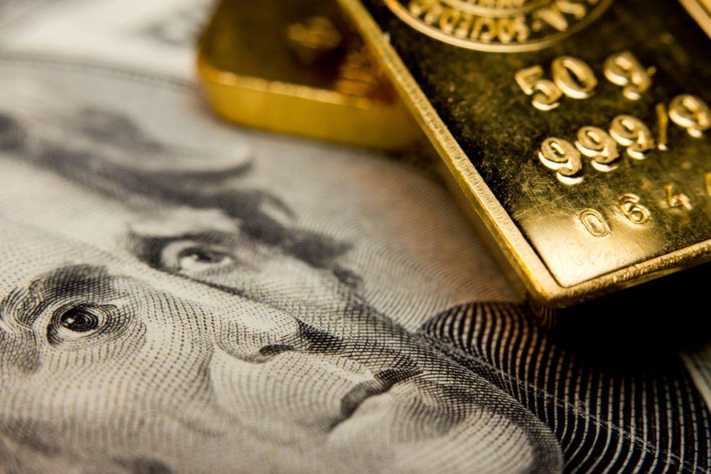 Gold Goes Up On Weaker Dollar