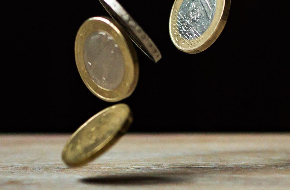 euro and US dollar