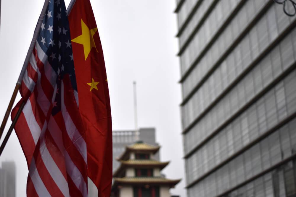 U.S. and China flag