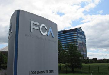 Fiat Chrysler headquarters sign