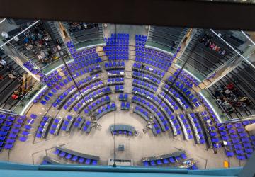 Main hall of German general parliament.