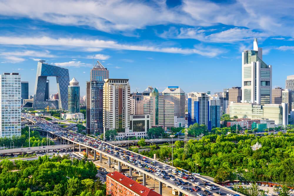 Beijing China cityscape